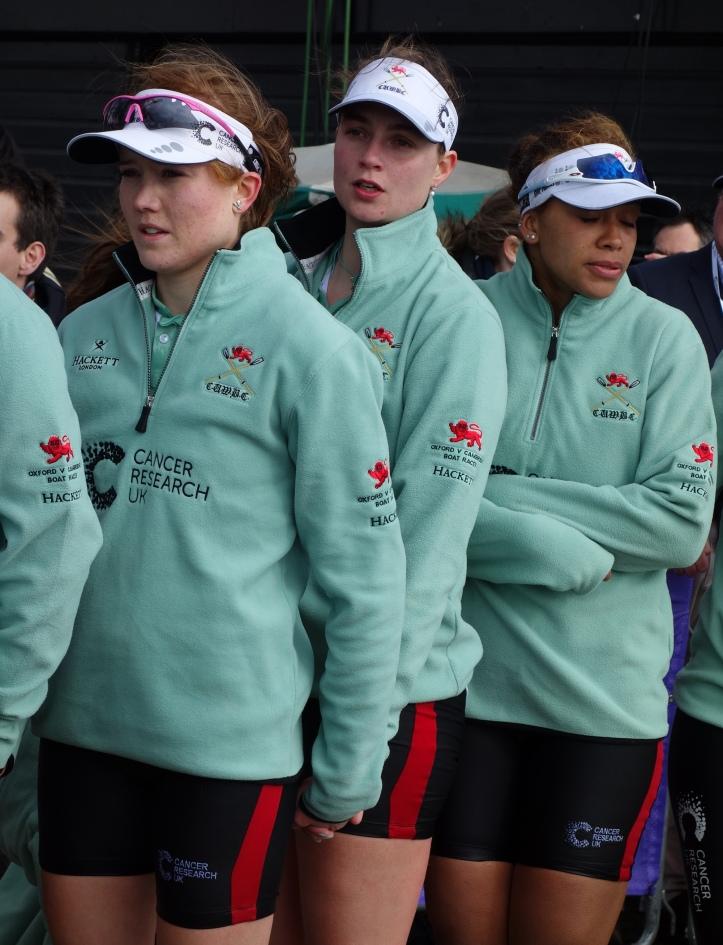 Faces of defeat - Zara Goozee, Myriam Goudet and Daphne Martschenko. Photo: