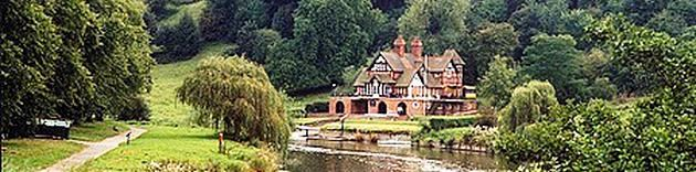 Pengwern's Boat House on the Severn at Shrewsbury. Pengwern Boat Club, founded in 1871, is located in Shrewsbury Town Centre, Shropshire, in a picturesque river-side setting.