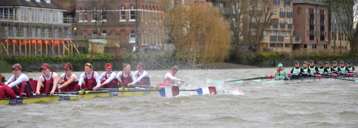 Pic 10. Crustacean time for Brooks as the Cambridge Women move away.