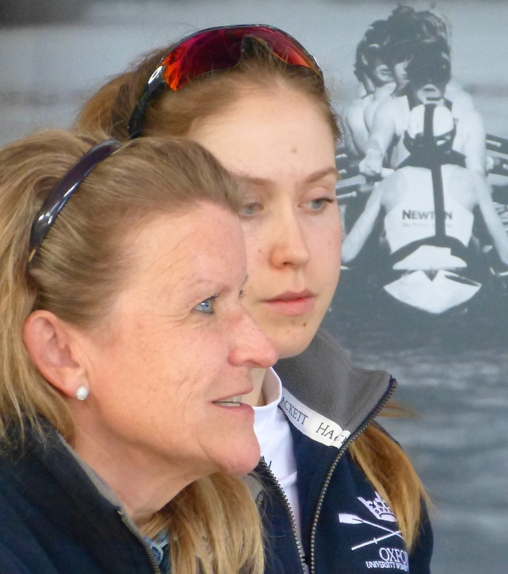 Pic 10. The Oxford Women's Coach, Christine Wilson (left) and OUWBC President, Maddy Badcott (right). Maddy learned to row at Lea Rowing Club in Hackney, East London, through the club's learn to row scheme and also with London Youth Rowing.