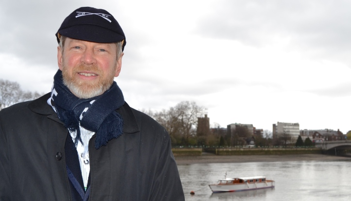 John Wiggins on Boat Race Day 2016.
