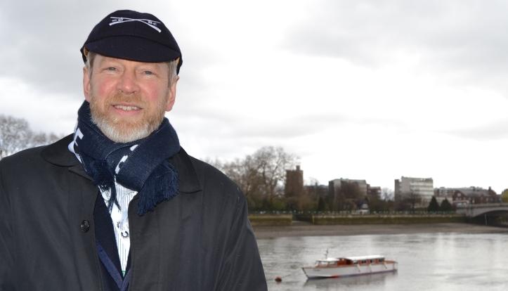 John Wiggins on Boat Race Day 2016.