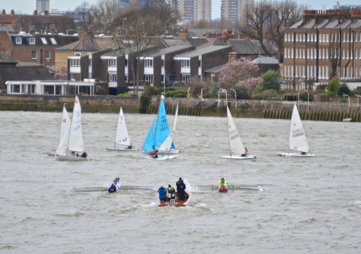 Pic13. Hello sailors. The first Oxford v Brooks race ends early.
