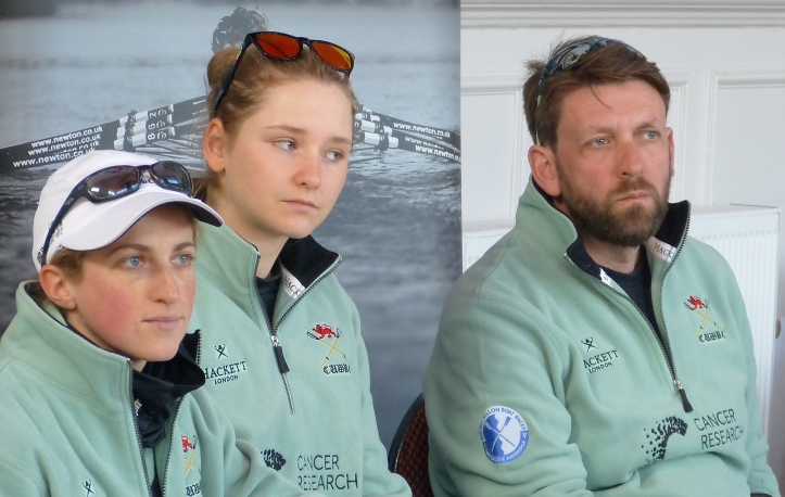 Pic 13. From CUWBC, Cox Rosemary Ostfeld, President Hanna Roberts and Coach Rob Baker.