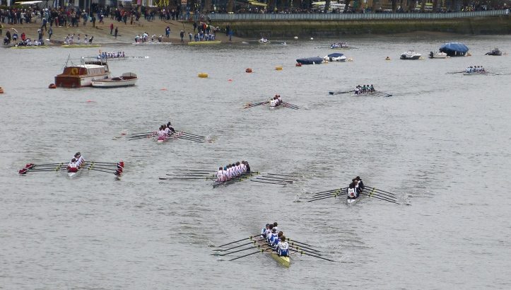 Pic 15. Passing Putney Embankment, the end is near but probably seems a long time coming for those who are rowing.