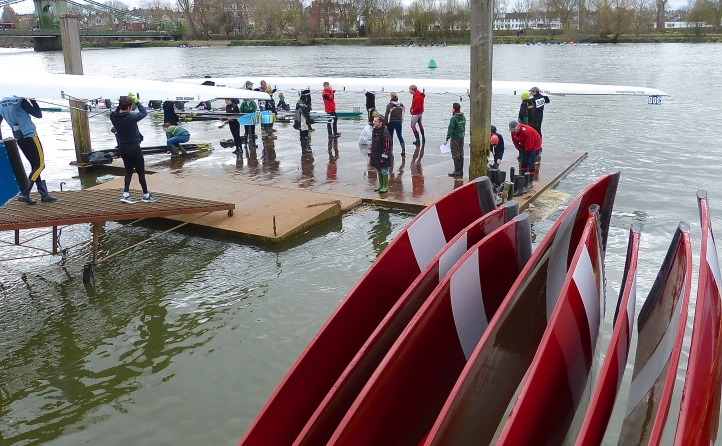 Pic 3. Boating from the Furnivall Sculling Club pontoon.