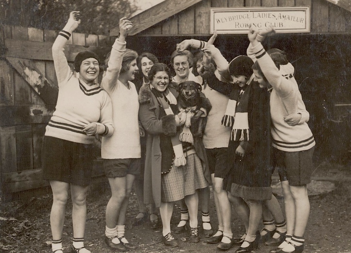 Pic 5. Any (with dog) and some of the other Weybridge Ladies in the 1930s.