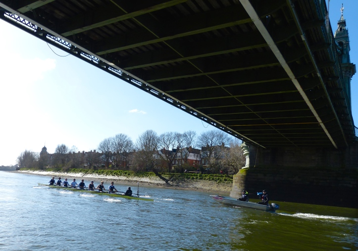 Pic 6. Under Hammersmith Bridge.