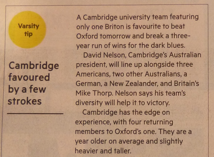 The Financial Times, 26 March 2016. The crew and nationalities referred to are from the 2012 crew. 'Hear The Boat Sing' wrote about better times for rowing journalism in a post last February. https://heartheboatsing.com/2016/02/25/a-look-back-at-newspapers-of-old-and-their-rowing-correspondents/
