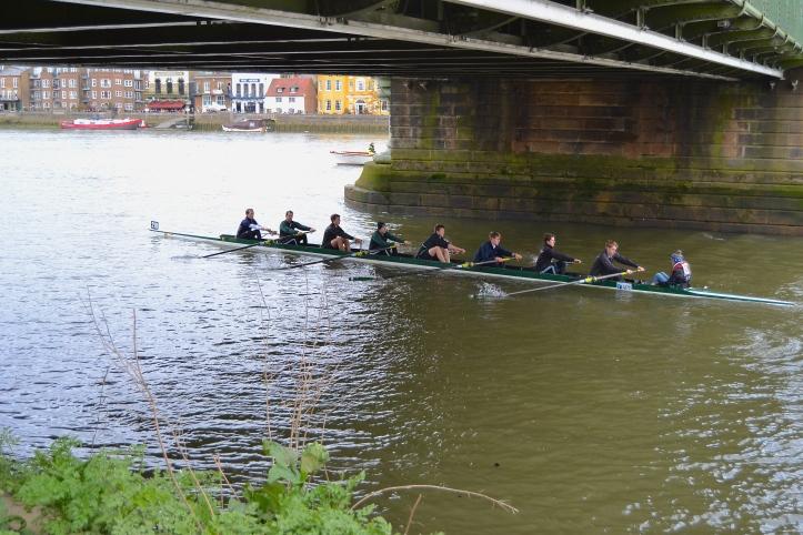 Pic 7. Boar's Head Rowing Club under Hammersmith Bridge.