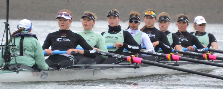 Pic 7. The Cambridge Women's Blue Boat.