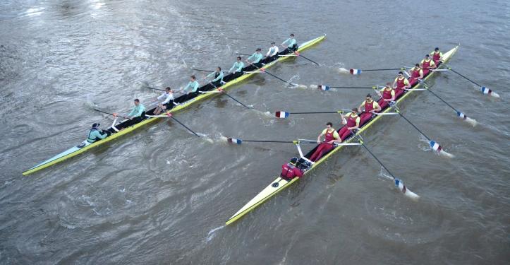 Pic 8. Cambridge and Brooks at Hammersmith Bridge.