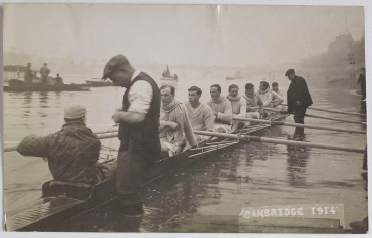 The 1914 Cambridge crew who raced in a boat built by Bowers and Phelps
