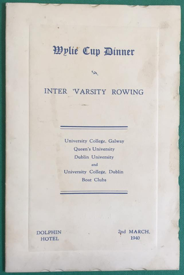 Wylie Cup Dinner Menus for 1940 (Authors collection).