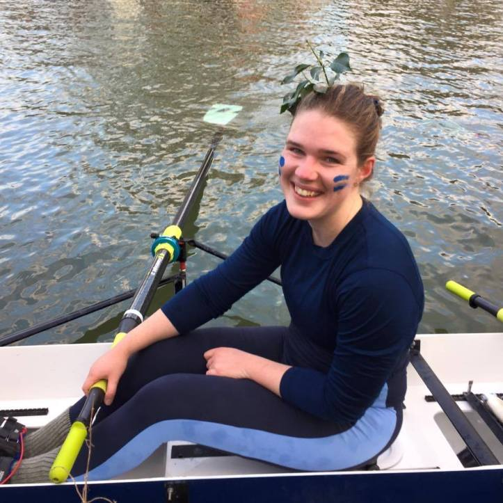 Caption 0 - Courtney Landers, who is rowing for Pembroke College BC, will share her and her crew mates journey towards May Bumps with the HTBS readers for some Tuesdays onwards. Photo: Sue Aylward.