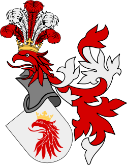 The City of Malmö's coat of arms, from 1437, though this is a modernised version of today.