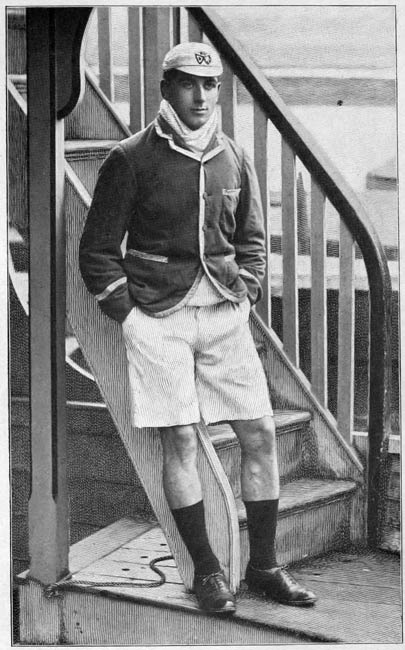 Pic 1. A stylish combination of club blazer and rowing kit from 1900.