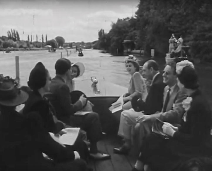 Pic 3. The Royal Party afloat. Seated next to Princess Elizabeth is Sir Harcourt Gilbey Gold, then Chairman of the regatta's Committee of Management.