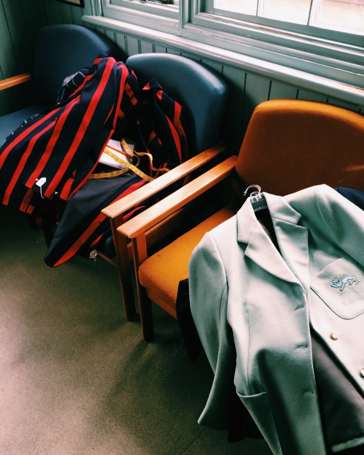 Picture 3: The Blazers used by A.E. Clothier for fittings this year. Photo credit: CL, with an iPhone 6 and VSCO.