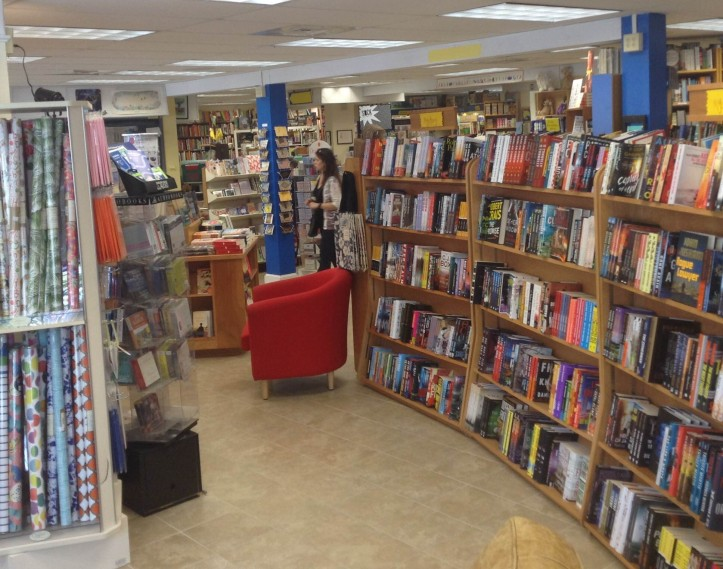 There are book signings and authors' talks almost every weekend at Bank Square Books.