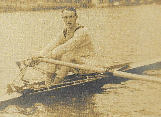 Jock Wise, of London RC, winner of the 1913 Wingfield Sculls. Photo from Chris Dodd's book Water Boiling Aft.