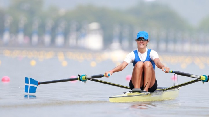 Pic 1. Sculler Katerina Nikolaidou of Greece. Picture: World Rowing.