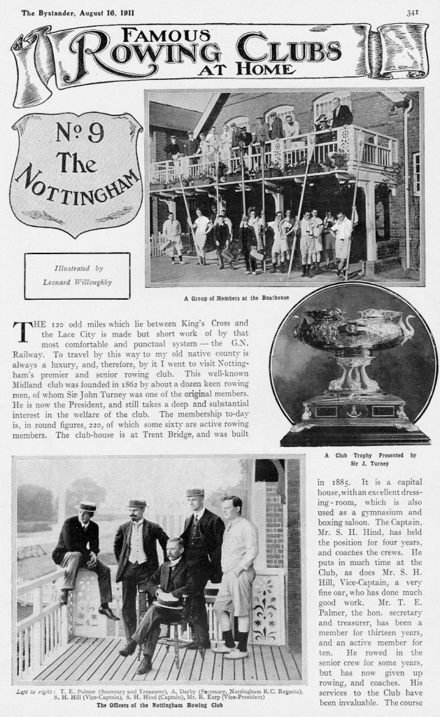 Pic 11. Nottingham had four rowing clubs in Willoughby's time but he dismissed the others in favour of visiting Nottingham Rowing Club, http://www.ebay.co.uk/itm/The-Nottingham-Rowing-Club-History-Current-Members-1911-2-Page-Photo-Article-/162025531876?hash=item25b97969e4:g:EJ4AAOSwS7hW~qpE which he called the town's 'premier and senior club'.