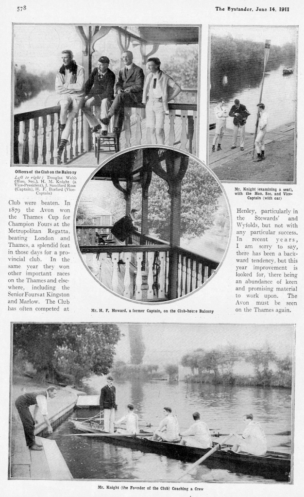 Pic 3a and 3b. The Bystander magazine article on the Avon Rowing Club. Like all HTBS pictures, click to enlarge.