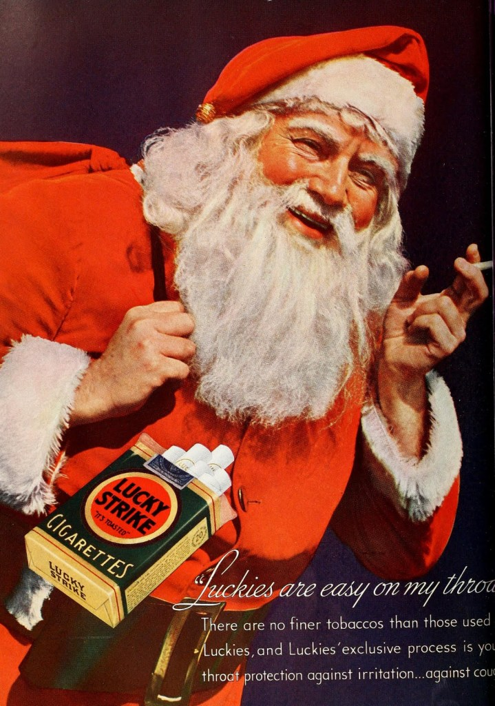 Pic 4. As Santa is overweight and a smoker, he will soon be needing the North Pole's National Elf Service.