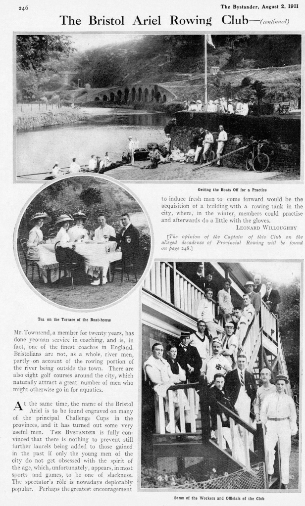 Pic 4 and Pic 5. Leonard Willoughby's take on Bristol Ariel Rowing Club, based at St Anne's Park, Bristol.