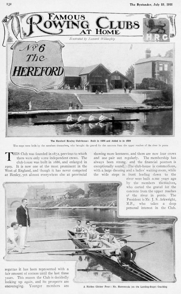 Pic 7. Hereford Rowing Club gets its week of fame in The Bystander.