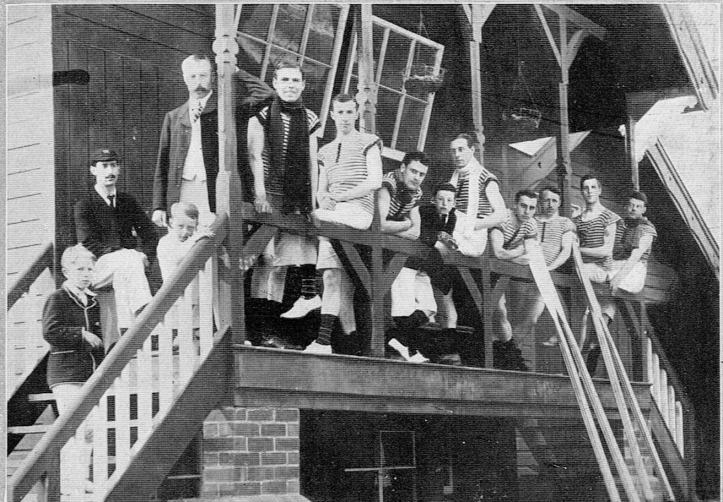 Pic 8. The original caption for this picture of Hereford men and boys was 'Waiting for the coach'. 'Twas ever thus.