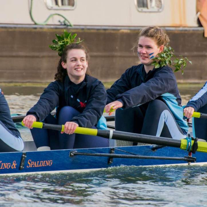 Picture Eleven: Katharine in 7-seat after winning our Blades last term. Look at that smile. Photo: Giorgio Divitini.