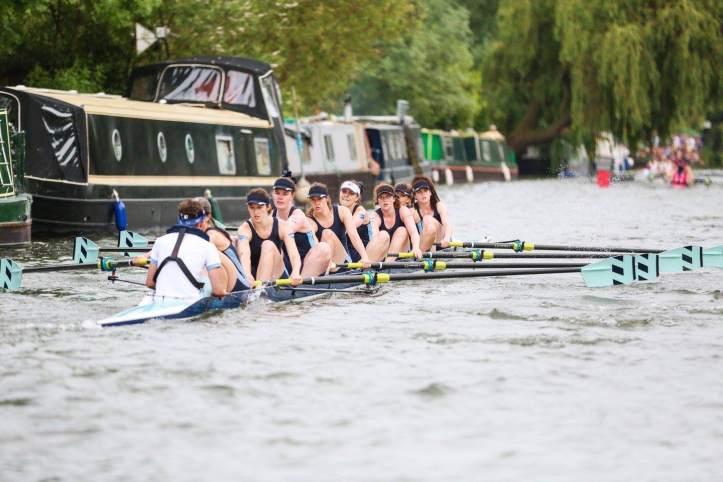 Pembroke W1 racing on the Cam at May Bumps. Photo: Matevz Poljanc.
