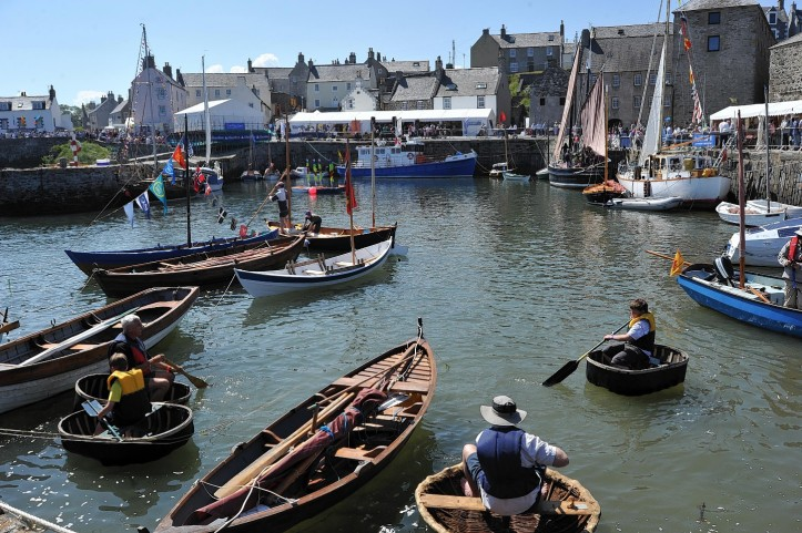 The annual Scottish Traditional Boat Festival at Portsoy, a village located on the Moray Firth Coast of North East Scotland, 50 miles North West of Aberdeen. Picture: www.pressandjournal.co.uk