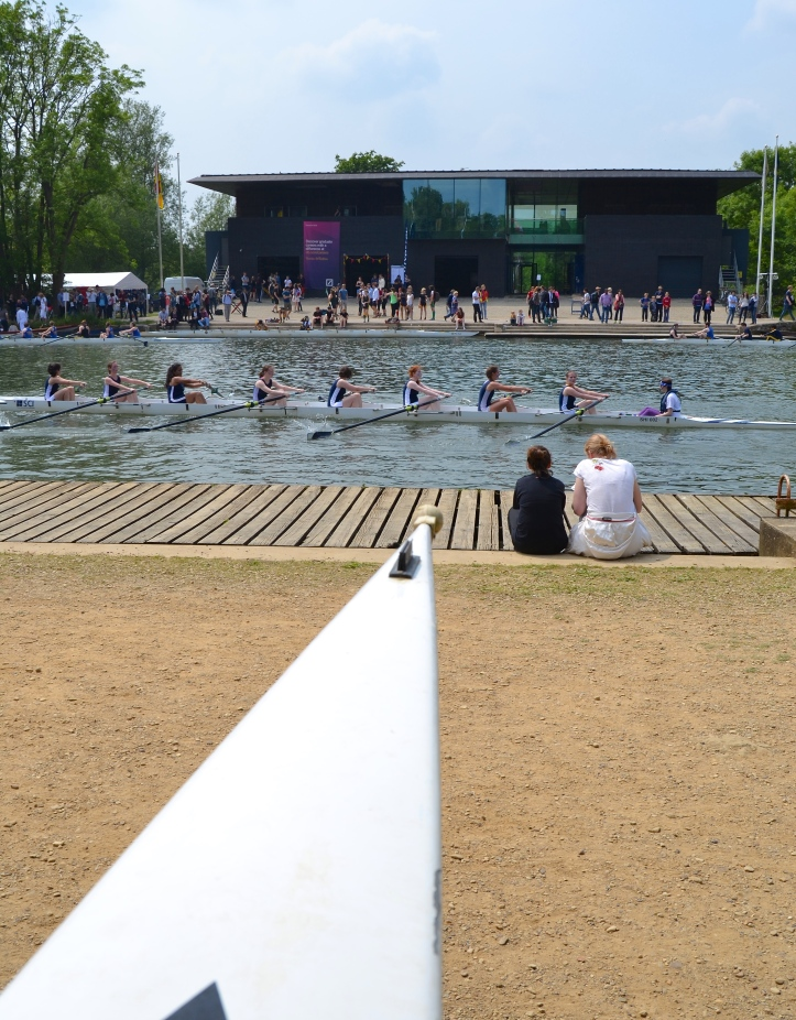 Pic 11. This ultra-modern boathouse is owned by University College who lease parts to Linacre, Somerville, Wolfson, St Benet's and St Peter's. It is on the site of the former Oxford University Boat Club (OUBC) boathouse, a more traditional construction built in 1881 but lost to fire in 1999. OUBC did not take a lease on the replacement building as it now trains out of a new boathouse on better water at Wallingford