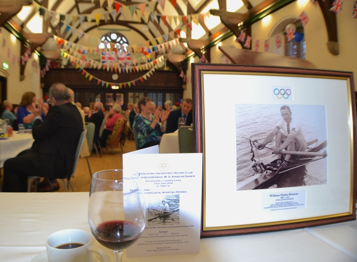 W.D. Kinnear, one of the great scullers of the Edwardian Age, was present both in spirit and also in this representation at a dinner recently held in his memory.