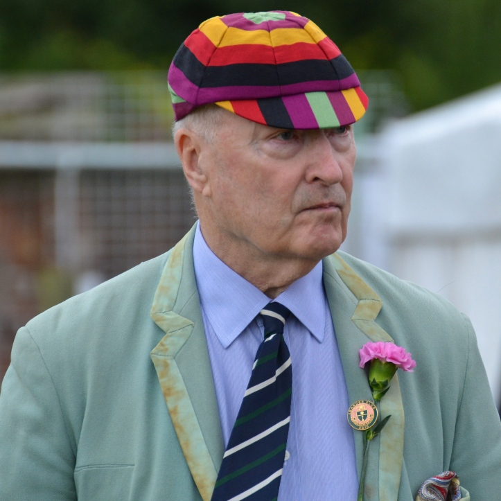 An elegant gentleman surveys the scene on the first day of the 2016 Henley Royal Regatta.