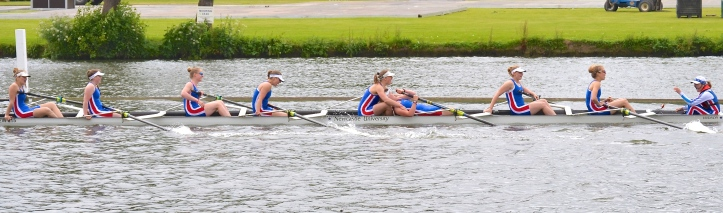 Academic Eights: Newcastle University beat Oxford University Women's BC by 1 1/4 lengths.