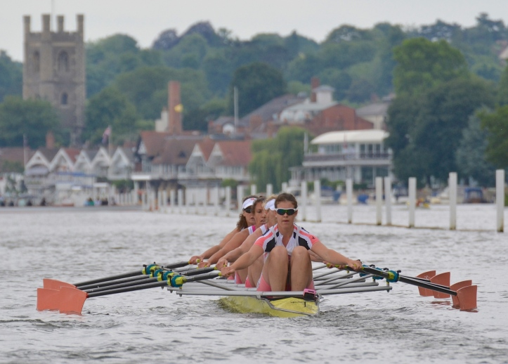 The Leander quad contained double Olympic Silver Medalist, Debbie Flood at '3'. She was also the first woman to be Captain of Leander Club.