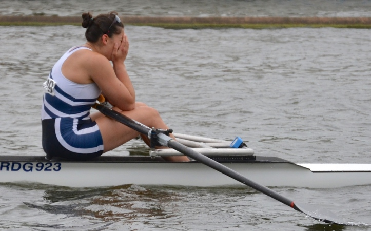 Junior Single Sculls: Stevens, Reading RC beat Gray, Winnipeg RC, Canada by 1 3/4 lengths.