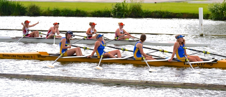 Junior Quads: Glasgow Schools beat Warrington by 2 1/4 lengths.