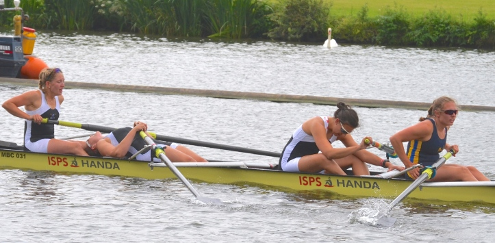 Elite Coxless Fours: Molesey/Nottingham RC beat University of Massachusetts, USA, by 5 lengths.