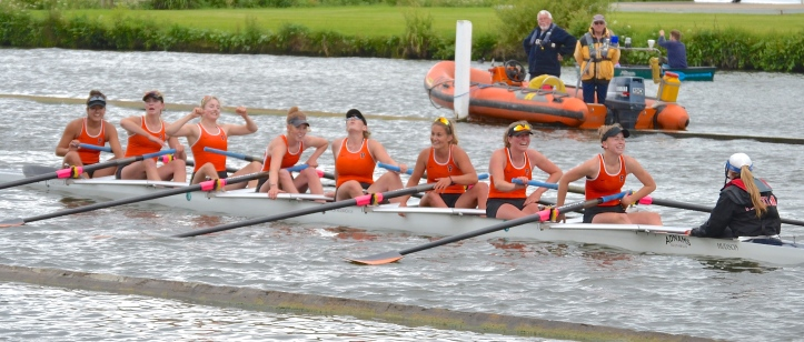 Senior Eights: Princeton University, USA, beat Imperial College by a canvas.