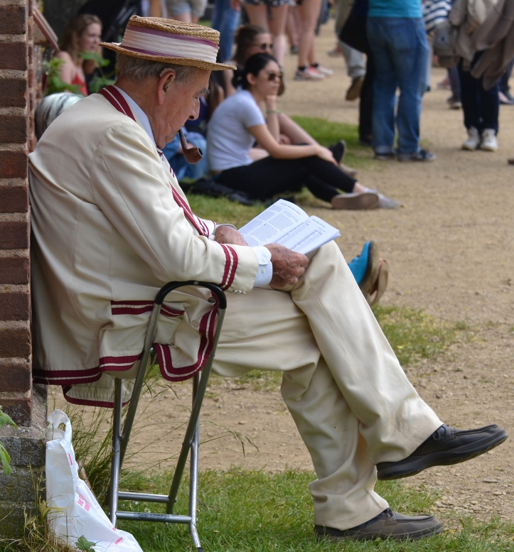 Pic 25. If this gentleman wearing a Merton College First Eight blazer has not seen it all before, then his boater hat certainly has.