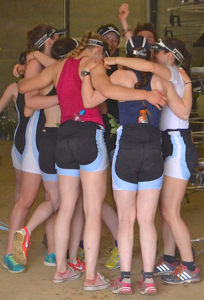 A group hug after putting the boat away.