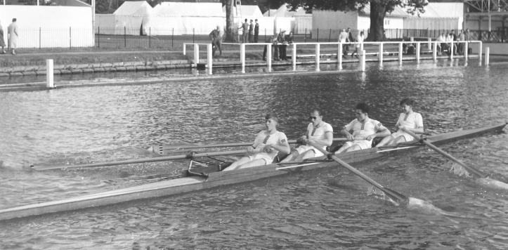 Pic 3. Practicing for Henley, 1958. Henri is at '2'.