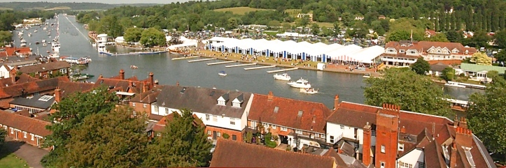 For most of its history, the only 'aerial view' of Henley Royal Regatta was from the tower of St Mary's Church. Photo: Robert Treharne Jones.