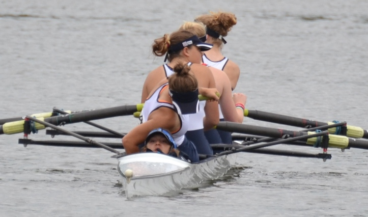 Manipulations in the Henley RC Junior Coxed Four before they go onto the start for their semi-final.