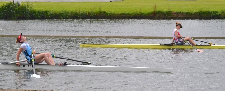 Elite Lightweight Single Sculls: Hart-Winks, Edinburgh University beat Box, Asopos RC, Netherlands, by 1 length.
